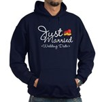 Just Married (Add Your Wedding Date) Hoodie (dark)