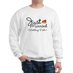 Just Married (Add Your Wedding Date) Sweatshirt