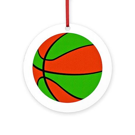 Christmas Basketball Ornament (Round)