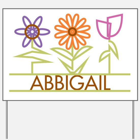 Abbigail with cute flowers Yard Sign