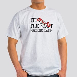 Tied The Knot (Add Wedding Date) Light T-Shirt