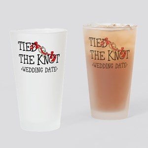 Tied The Knot (Add Wedding Date) Drinking Glass
