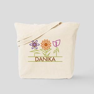 Danika with cute flowers Tote Bag