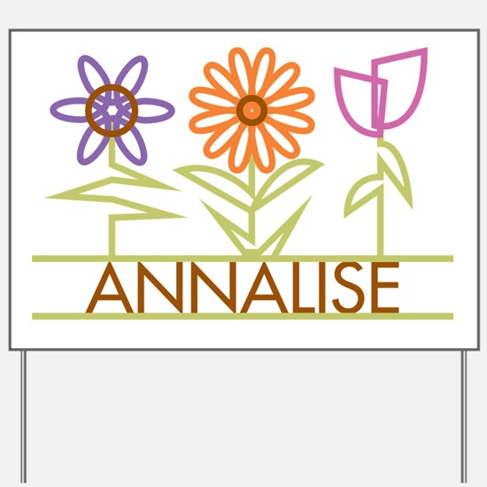 Annalise with cute flowers Yard Sign