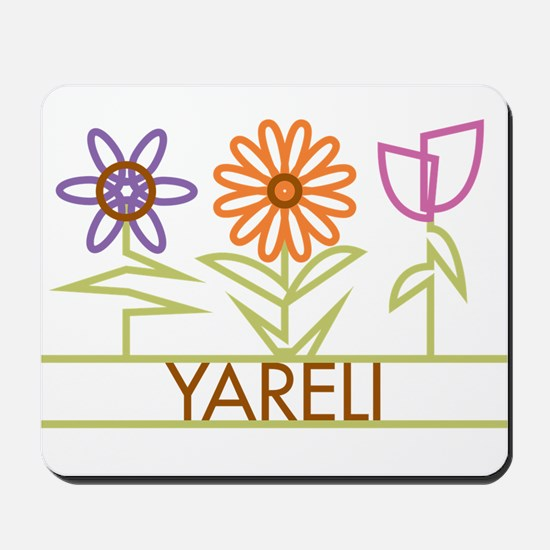 Yareli with cute flowers Mousepad