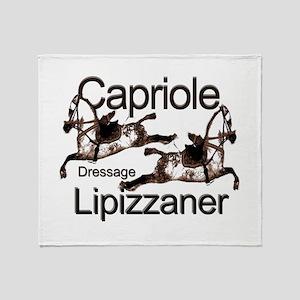 Lipizzaners -Dressage-Capriol Throw Blanket