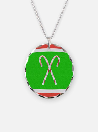 Christmas Tennis Ball Necklace