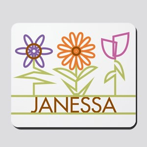 Janessa with cute flowers Mousepad