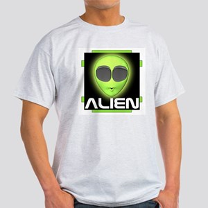 Excited Alien Ash Grey T-Shirt