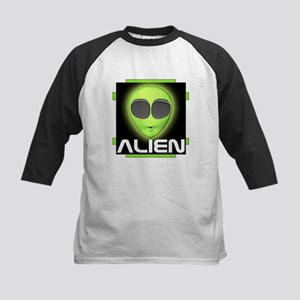 Excited Alien Kids Baseball Jersey