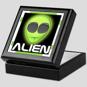 Excited Alien Keepsake Box