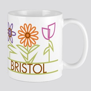 Bristol with cute flowers Mug