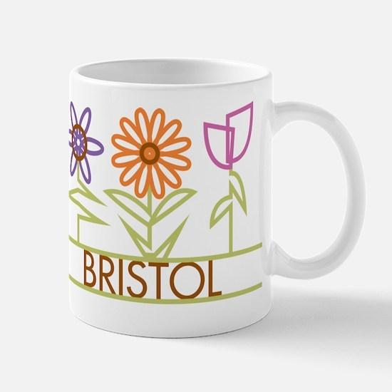 Bristol with cute flowers Mug