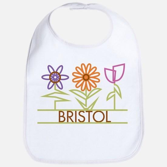 Bristol with cute flowers Bib