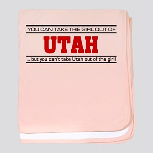 'Girl From Utah' baby blanket