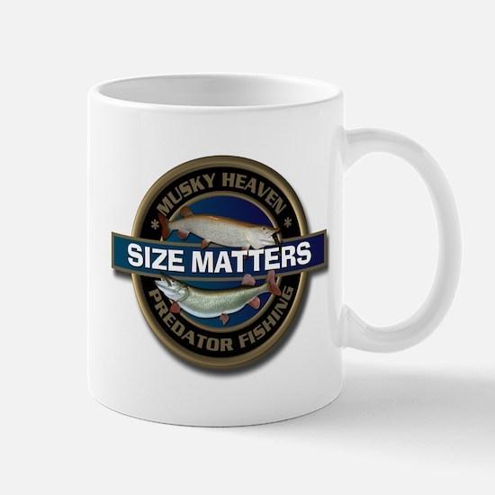 Size Matters Muskie Fishing Mug
