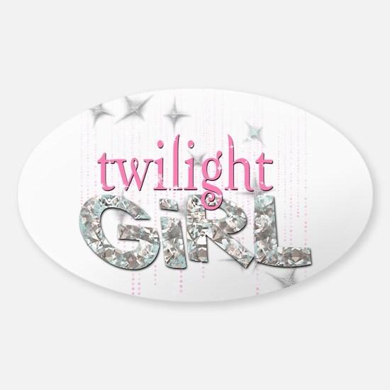 Twilight Girl Pink Sticker (Oval)