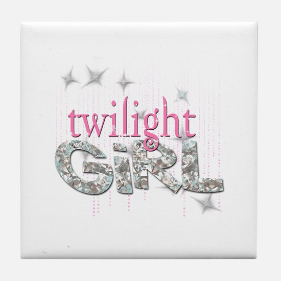 Twilight Girl Pink Tile Coaster