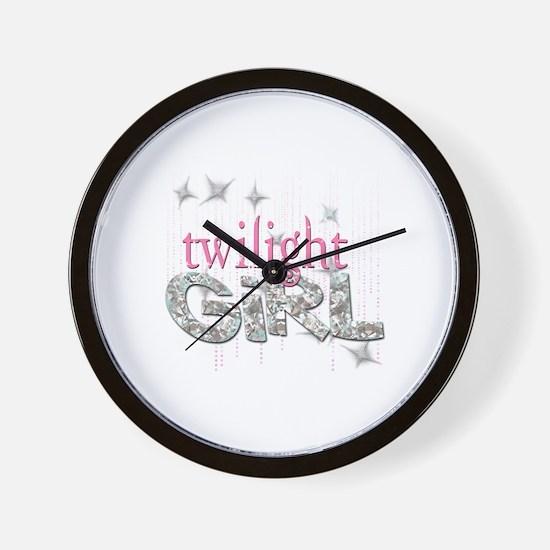 Twilight Girl Pink Wall Clock