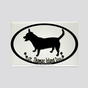 st thomas island dog palms Rectangle Magnet