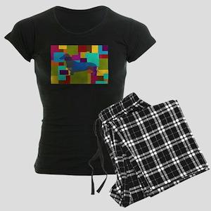 Dachshund Mosaic Women's Dark Pajamas