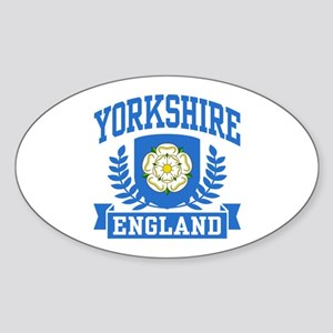 Yorkshire England Sticker (Oval)