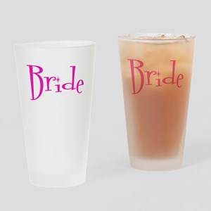 Bride Pink Twinkle Drinking Glass