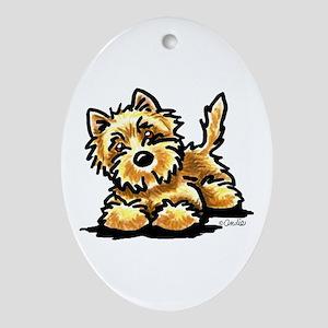 Wheaten Cairn Terrier Ornament (Oval)