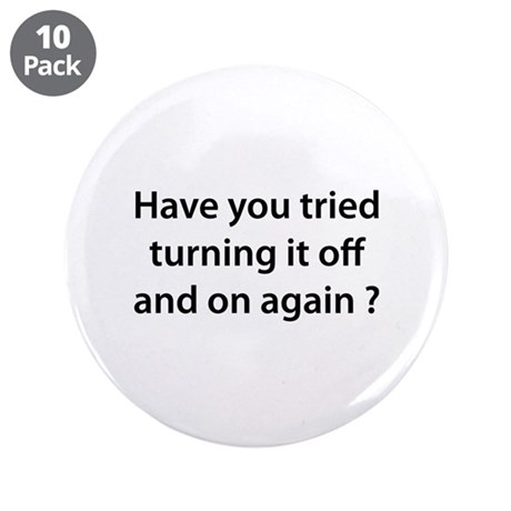 "Off and On 3.5"" Button (10 pack)"