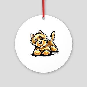 Wheaten Cairn Terrier Ornament (Round)