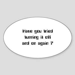 Off and On Sticker (Oval)