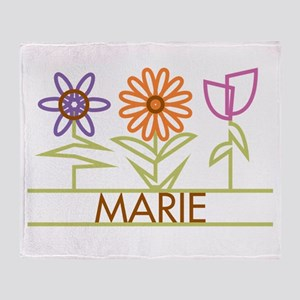 Marie with cute flowers Throw Blanket