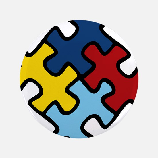 """Autism Awareness Puzzle 3.5"""" Button (100 pack)"""