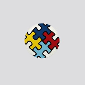 Autism Awareness Puzzle Mini Button
