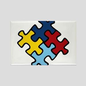 Autism Awareness Puzzle Rectangle Magnet