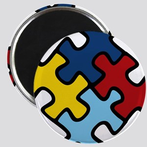 Autism Awareness Puzzle Magnet