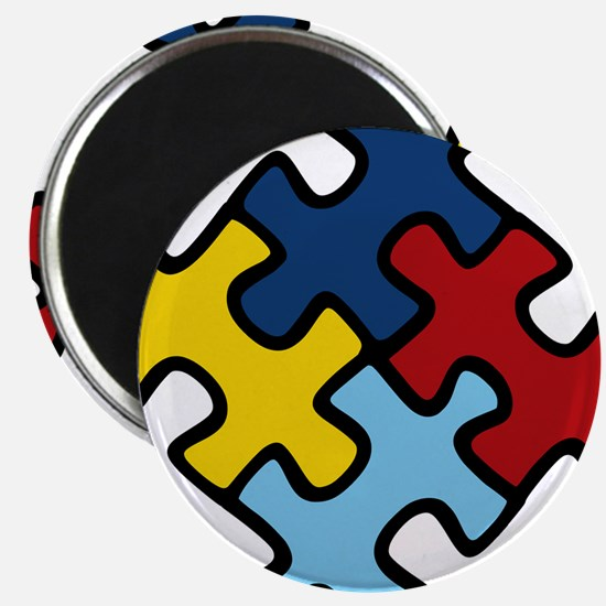 Autism Awareness Puzzle Magnet