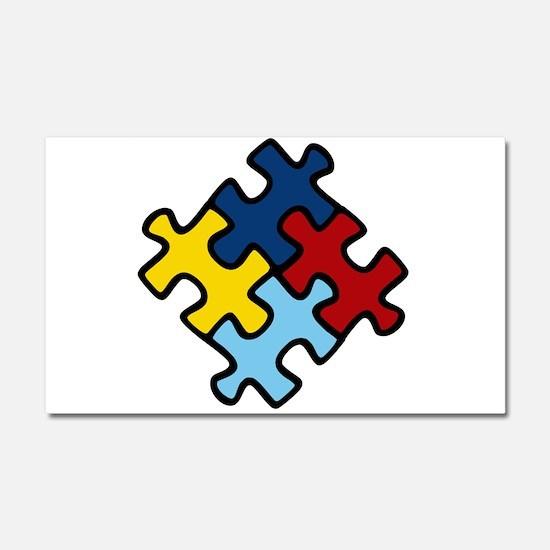 Autism Awareness Puzzle Car Magnet 20 x 12