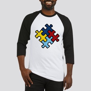 Autism Awareness Puzzle Baseball Jersey