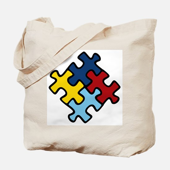 Autism Awareness Puzzle Tote Bag