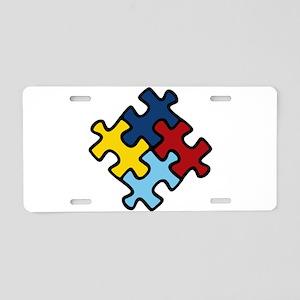 Autism Awareness Puzzle Aluminum License Plate