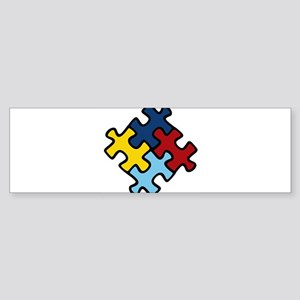 Autism Awareness Puzzle Sticker (Bumper)