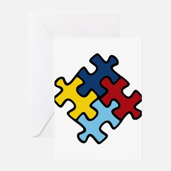 Autism Awareness Puzzle Greeting Card