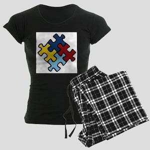 Autism Awareness Puzzle Women's Dark Pajamas