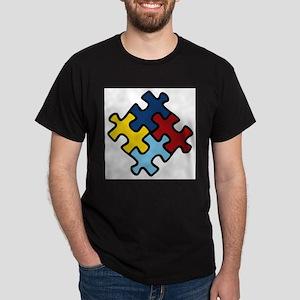 Autism Awareness Puzzle Dark T-Shirt