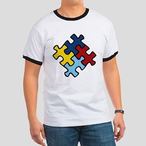 Autism Awareness Puzzle Ringer T