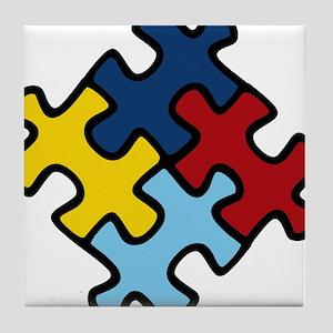 Autism Awareness Puzzle Tile Coaster