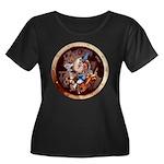SPSCpor Women's Plus Size Scoop Neck Dark T-Shirt