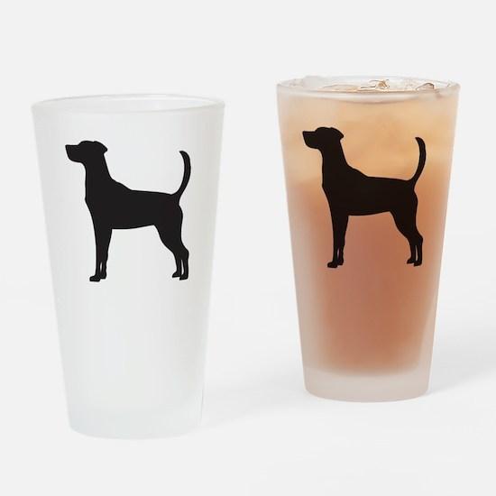 Fox Hound Drinking Glass