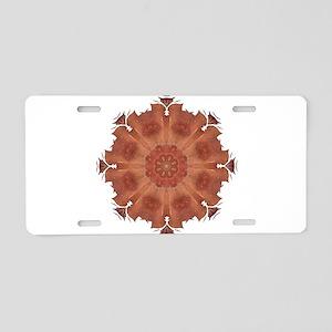 Beloved Snowflake Mandala Art Aluminum License Pla